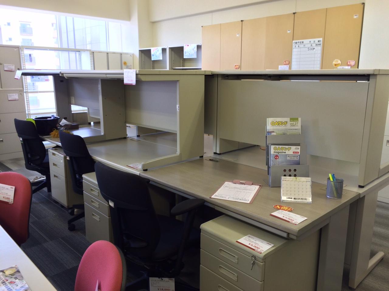 【中古オフィス家具】常時100以上の展示・販売のイメージ