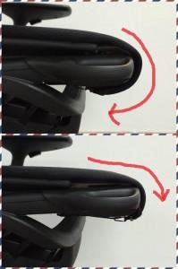 座面奥行の変化