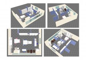 晋和法律事務所様 3D図面(パターン1)